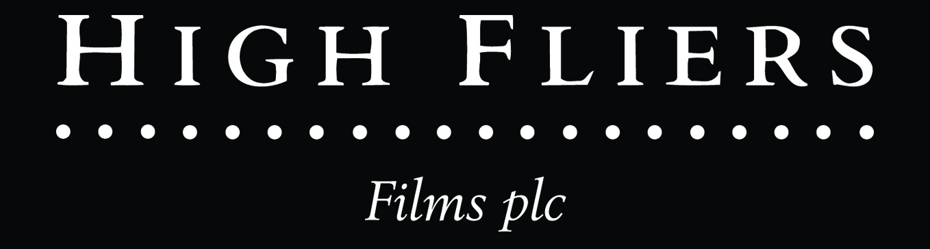 HF Films plc Logo - White On Black